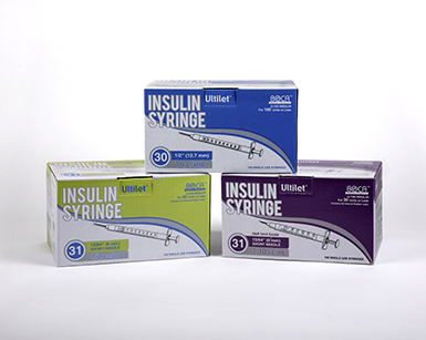 Ultilet® Insulin Syringes | Insulin Syringes for Diabetes | Boca Medical Products