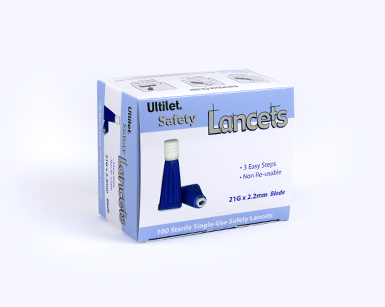 Ultilet® Safety Lancets | Diabetes Lancet Devices | Boca Medical Products