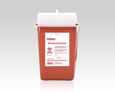 Ultilet® Sharps Containers | Diabetes Testing Product Disposal | Boca Medical Product